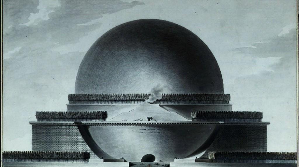 Boullée - Cénotaphe à Newton - élévation   © WikiCommons