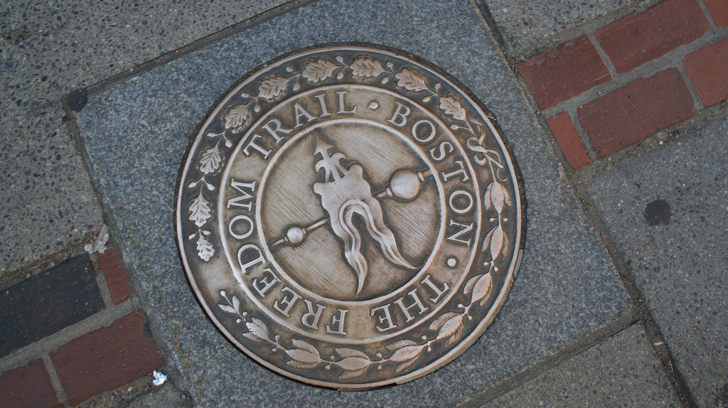 Freedom Trail Medallion|©Jorge Cancela/Flickr