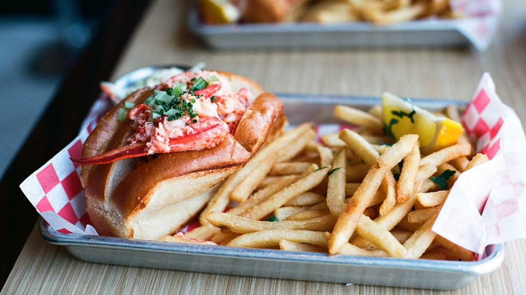 "A ""classic"" New England lobster roll