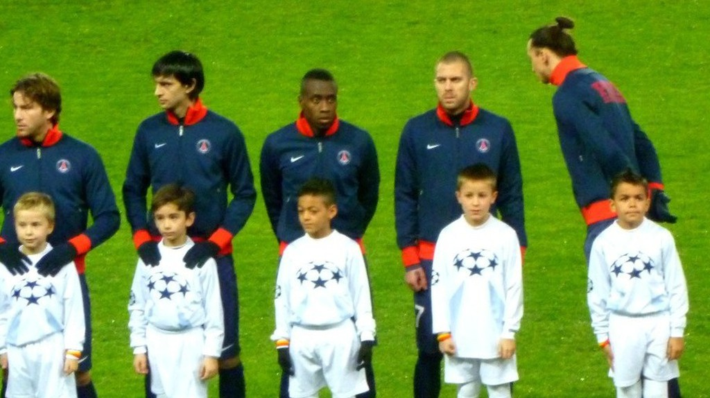 Pre-match Paris Saint-Germain lineup │© Philippe Agnifili