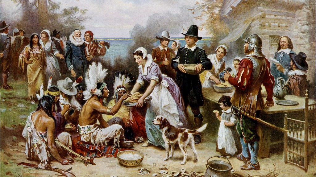 The First Thanksgiving   Public Domain/WikiCommons