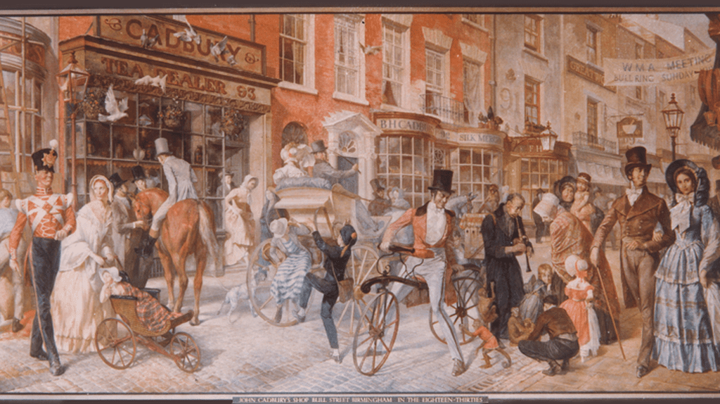 John Cadbury's first shop on Bull St, 1824 | © Cadbury