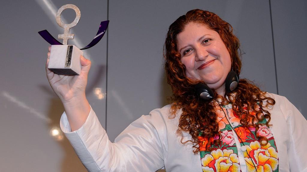 Imelda Marrufo Nava receiving the Anne Klein prize in 2014 | © Heinrich-Böll-Stiftung/Flickr