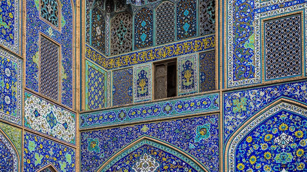 Blue tiles in Meidan Imam | © Ninara / Flickr