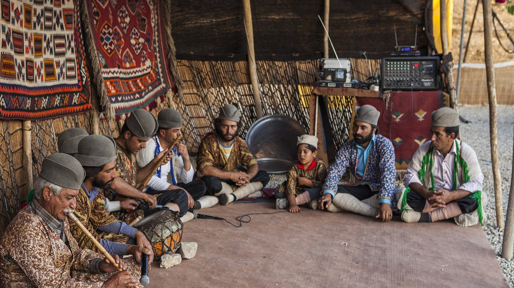 The round hats of Qashqai men are unique to this tribe | © Ninara / Flickr