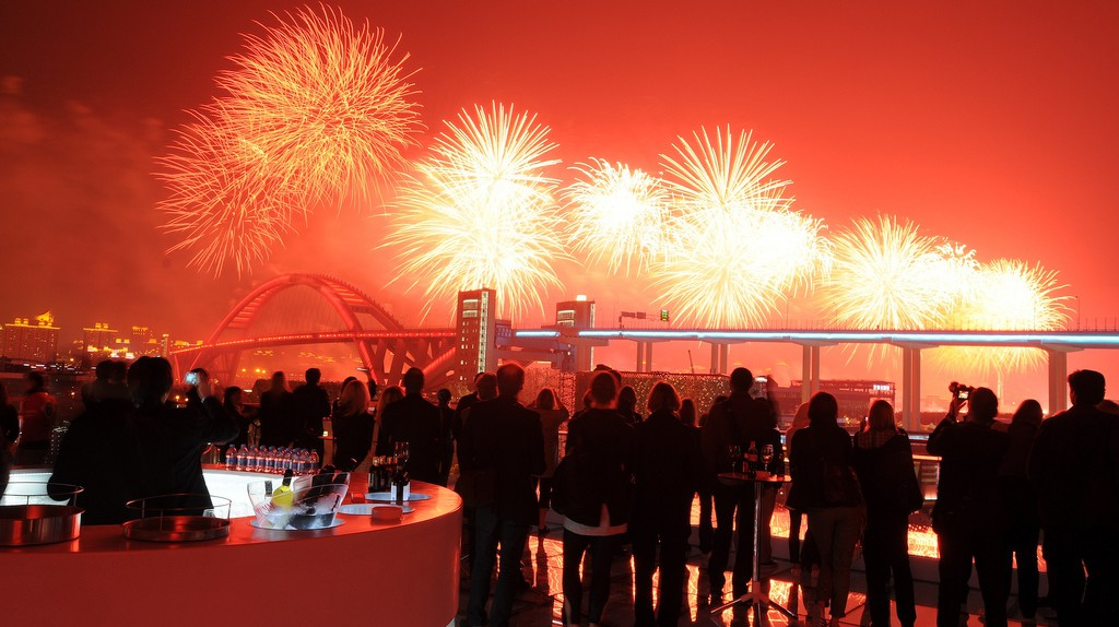 Fireworks Light Up the Shanghai Skyline | ©Swedish Pavilion at Shanghai Expo/Flickr