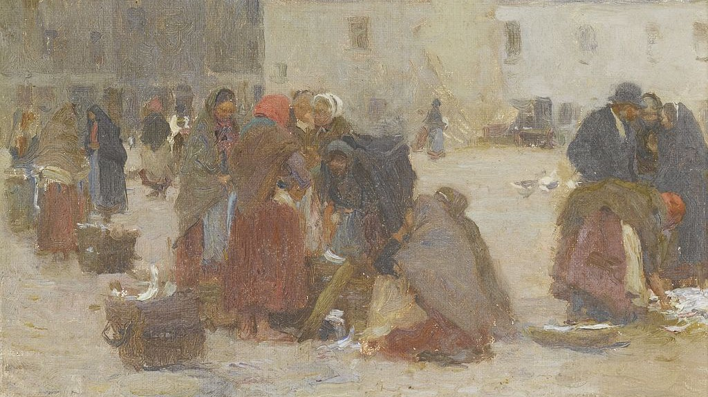Fish Market, Galway by Walter Osborne   © Sotheby's, London / WikiCommons