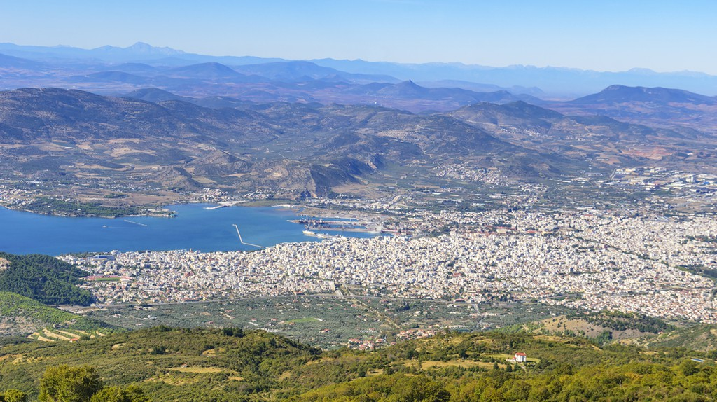 Aerial view of Volos city, the capital of the Magnesia regional unit. View from Pelion mountain | ©  Kotsovolos Panagiotis/Shutterstock