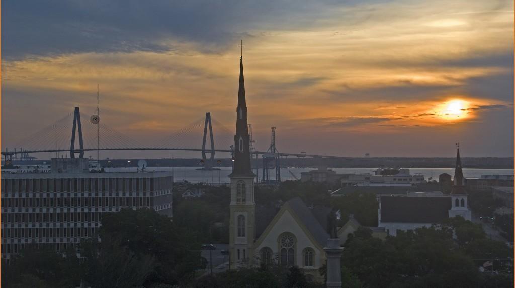 Sunrise over Charleston, South Carolina
