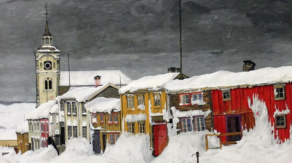 """""""Efter snestorm"""" by Harald Sohlberg, 1903, at Nasjonalgalleriet © Ilkka Jukarainen / Flickr"""