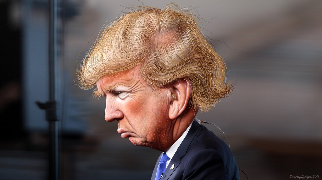 Donald Trump - Caricature | © DonkeyHotey/Flickr