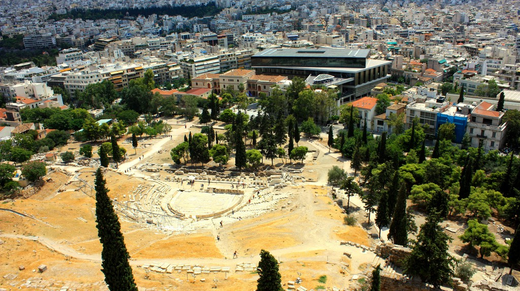View of the new museum and the city from the  Acropolis | © Christos Loufopoulos/Flickr