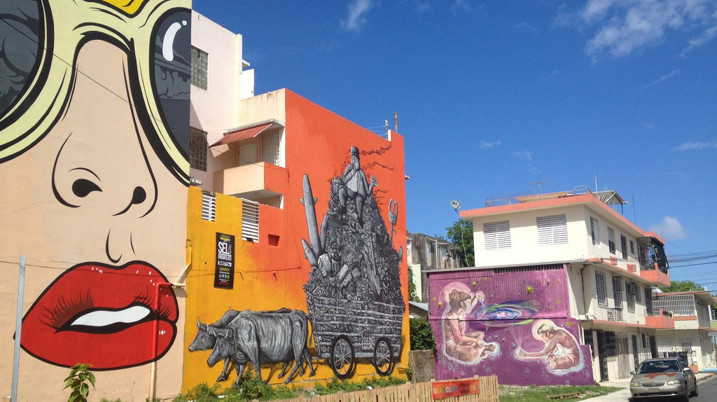 Multiple pieces of graffiti in Santurce   © Juan Cristobal Zulueta/ Flickr