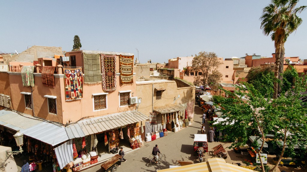 All kinds of goods can be bought at Marrakech's souks