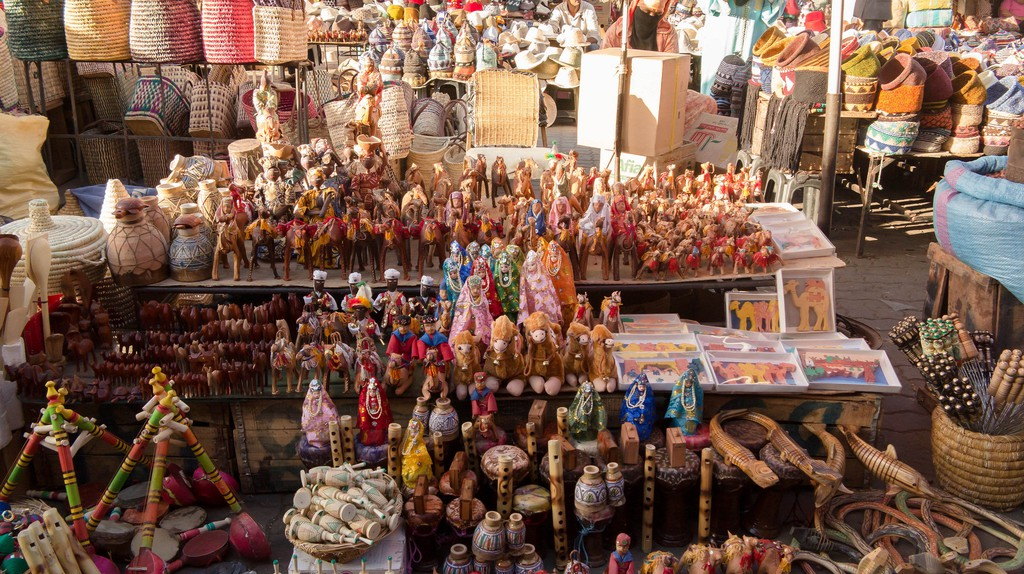 An assortment of goods at a stall in a Moroccan souk | © EyeofJ / Flickr