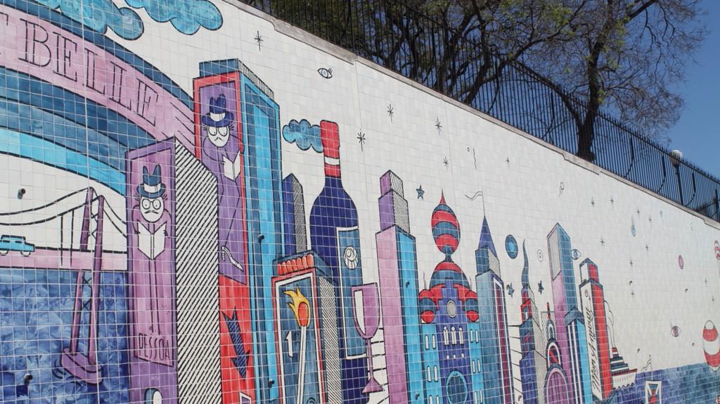André Saraiva's urban mural in São Vicente de Fora © Nina Santos