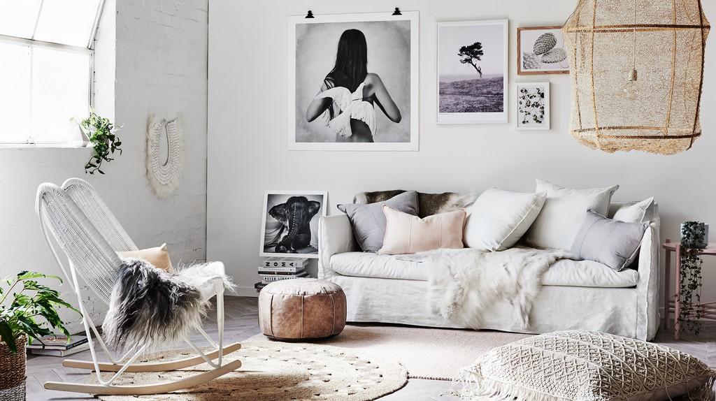 Boho Luxe Living Room | © norsu interiors