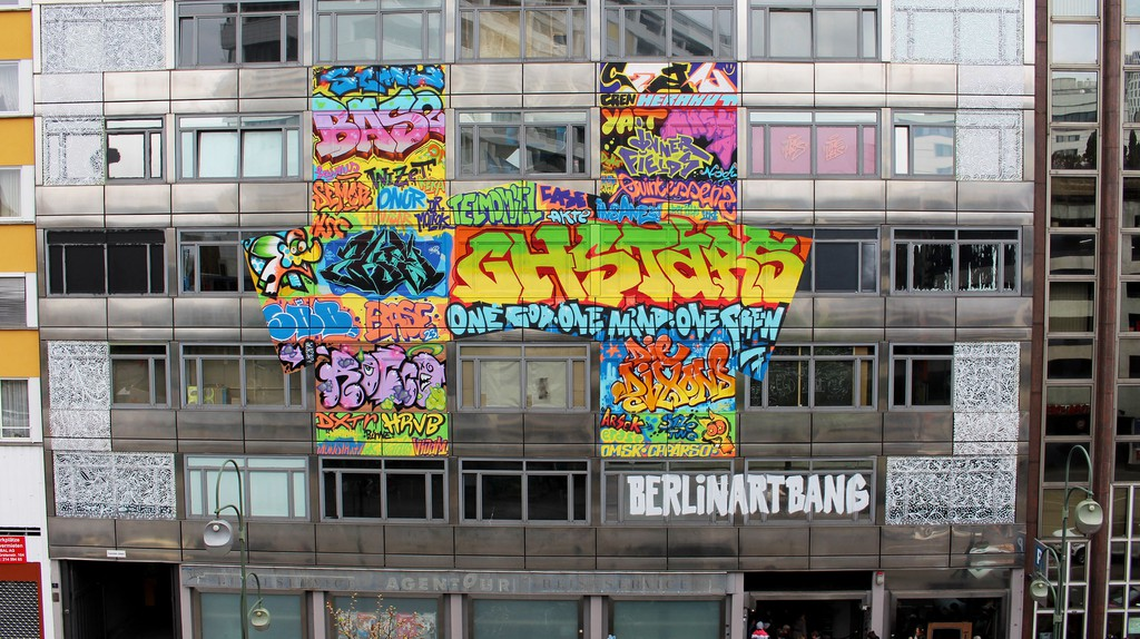 The outside of the Haus, a former bank building in Berlin   Courtesy of Art Bang/The Haus