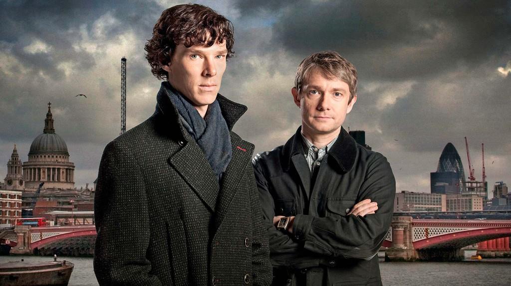 Benedict Cumberbatch and Martin Freeman in 'Sherlock'   © BBC