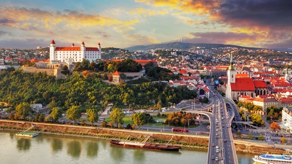 Aerial view of Bratislava, Slovakia, at sunset | © TTstudio/Shutterstock