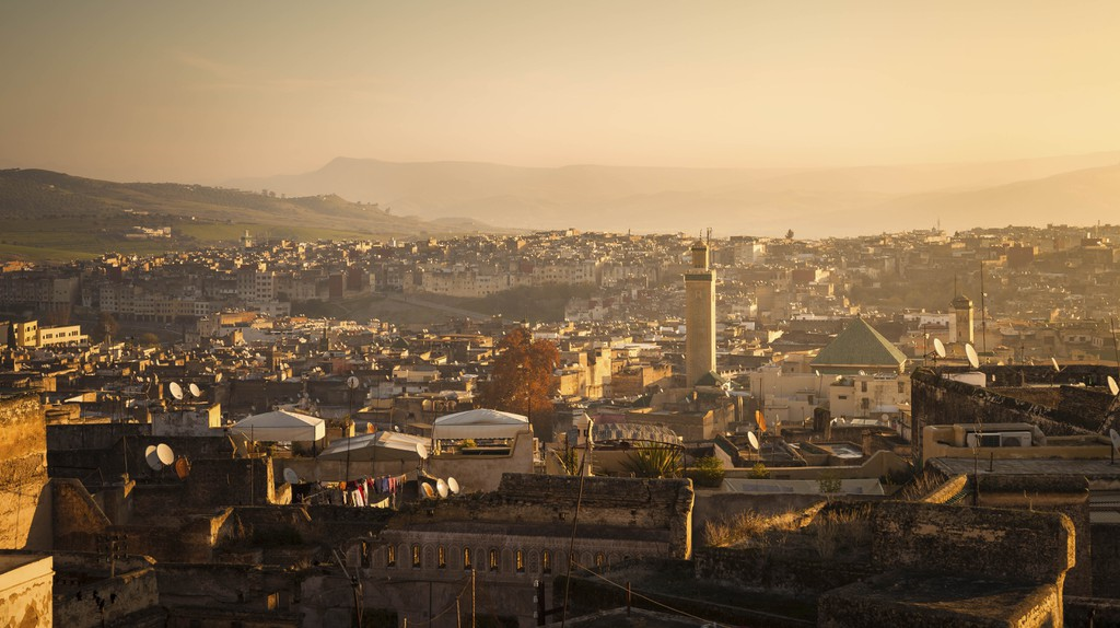 Panoramic view of Fez, Morocco.