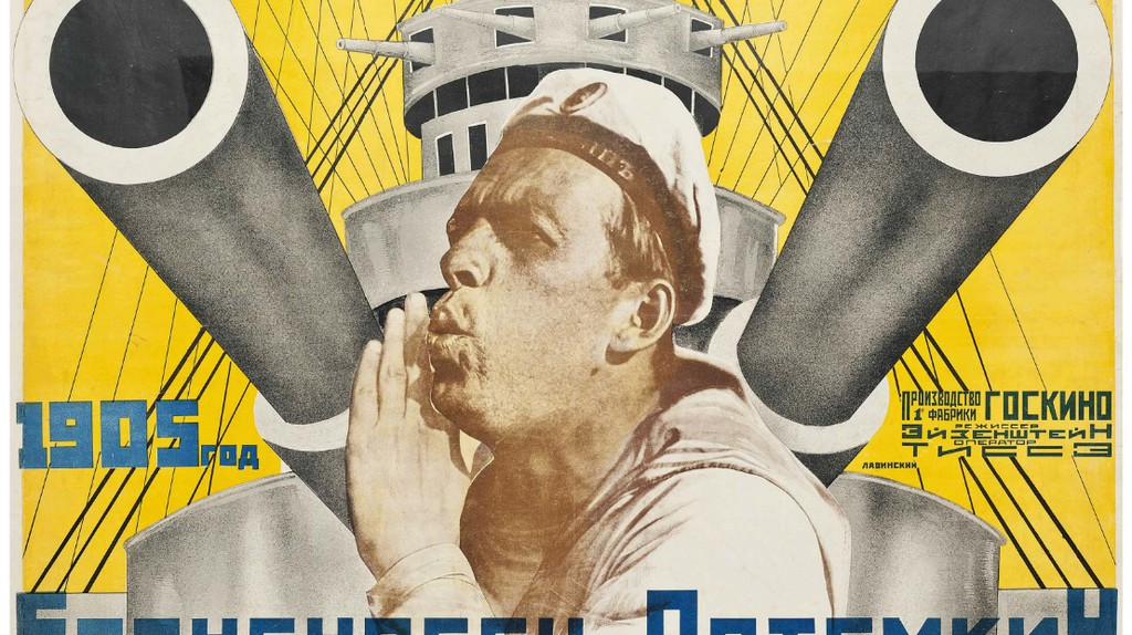 Poster for 'Battleship Potemkin', directed by Sergei Eisenstein, 1925 | ©  |Anton Lavinsky