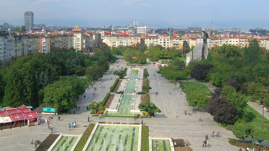 An aerial view of Sofia | © Damien Smith/Flickr