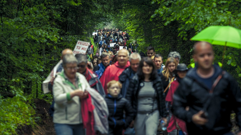 People marching for the preservation of Białowieża forest   © Rafał Wojczal / Flickr