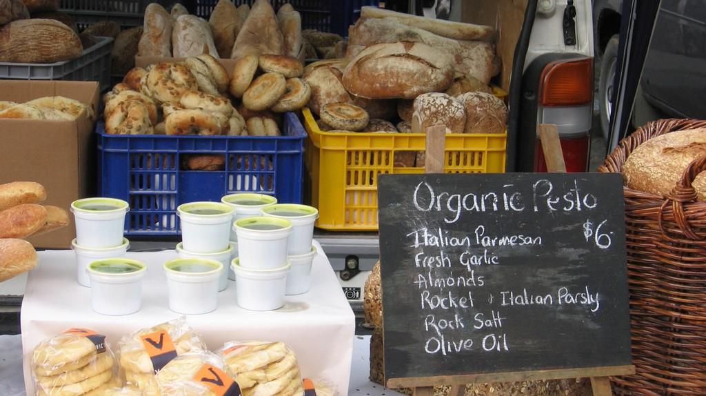 A Stall at the Lyttelton Farmers' Market
