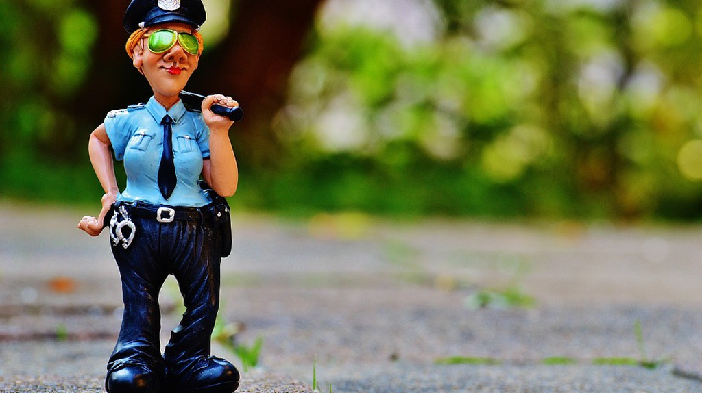 Fig Police Policewoman Funny   © Max Pixel