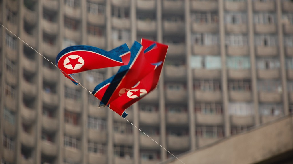 North Korea Flag in Pyongyang | © Stephen/Flickr
