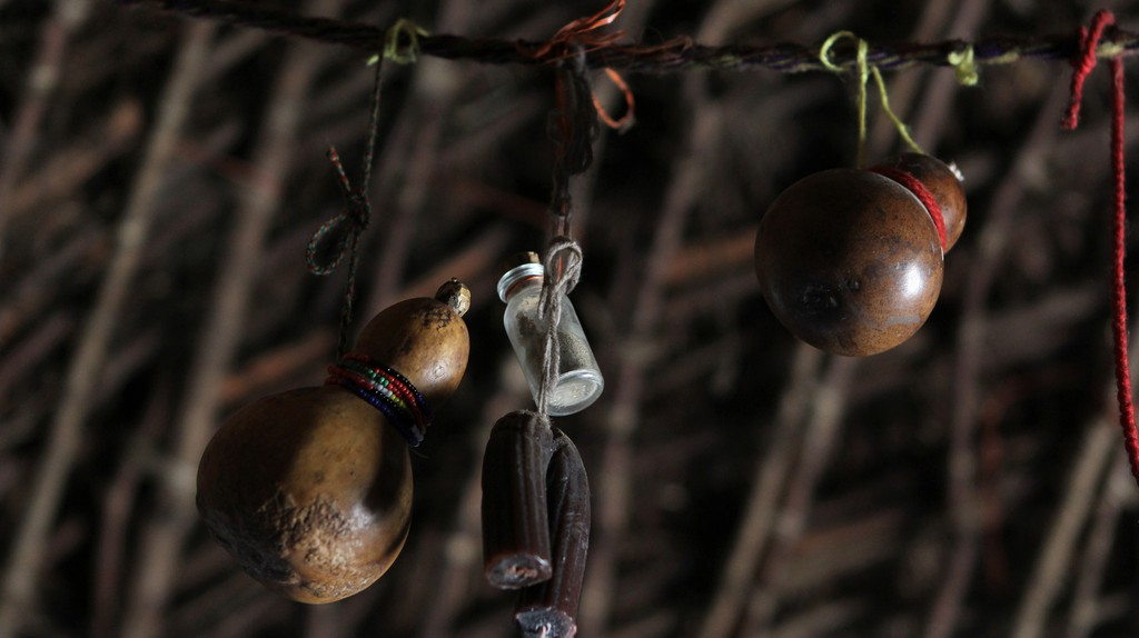 Inside a Sangoma's Hut