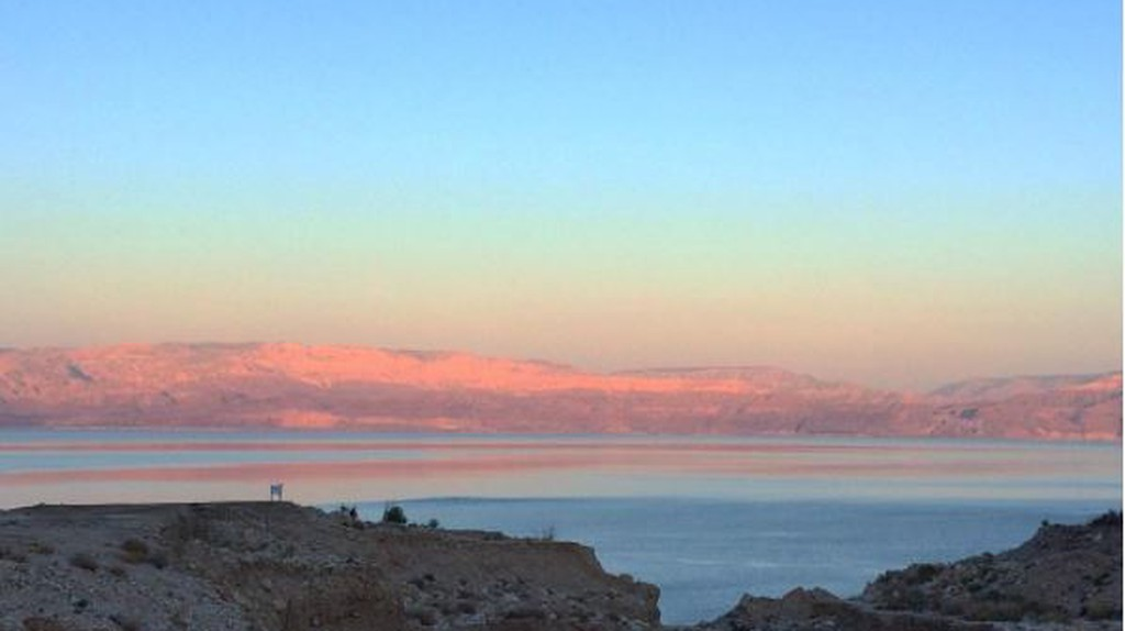 The Dead Sea and the mountains of Jordan. Photo: Becca Gomby