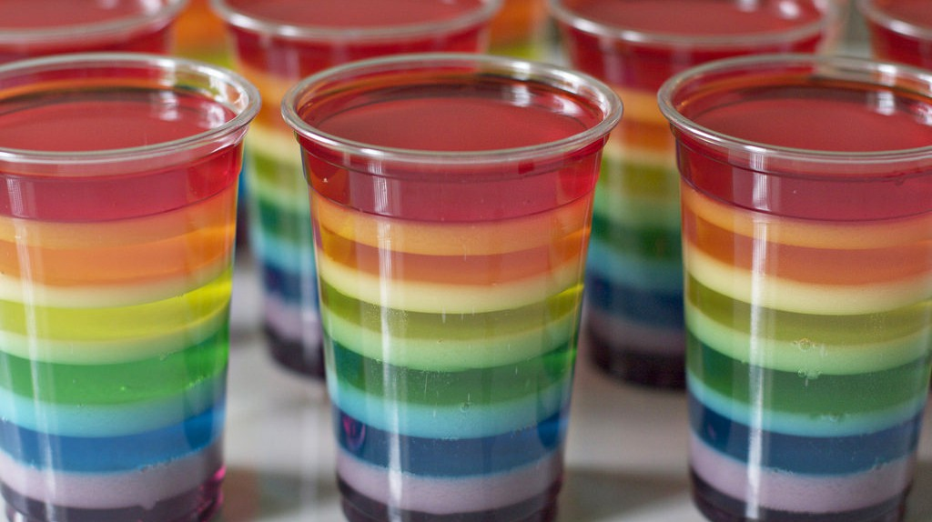"<a href = ""https://www.flickr.com/photos/andreapacheco/4810425967""> rainbow jello   © Andrea.Pacheco/Flickr"
