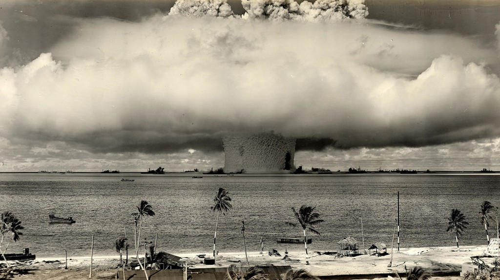 A 1946 atomic bomb test conducted by the U.S. Military in the Marshall Islands | © James Vaughan / Flickr