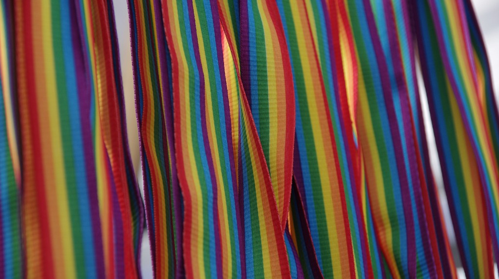 Rainbow straps of pride whistles