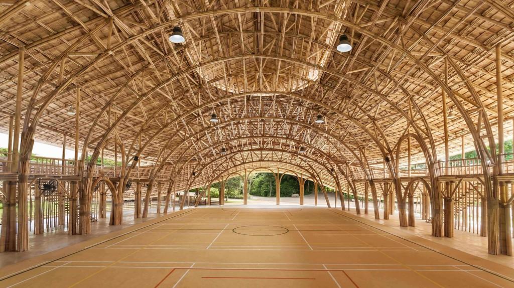 Bamboo Sports Hall at Panyaden International School | © Alberto Cosi, Courtesy of Chiangmai Life Architects