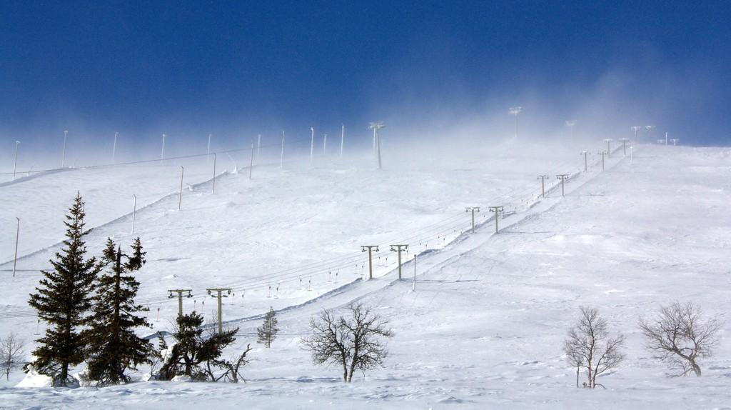 Ski slope in Finland