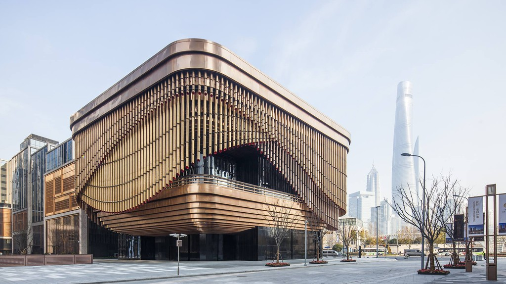 The Fosun Foundation is a new culture and arts building at the Bund Finance Centre inShanghai
