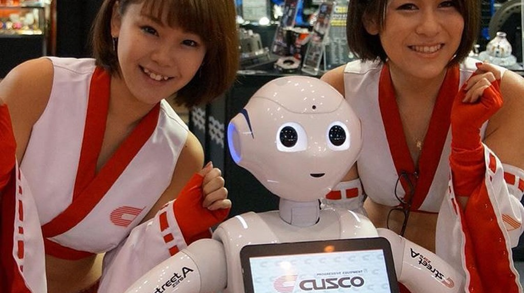 """Say hello to newest Cusco campaign team! Pepper the Customer Greeting Robot.  © Moto """"Club4AG"""" Miwa/ Flickr."""
