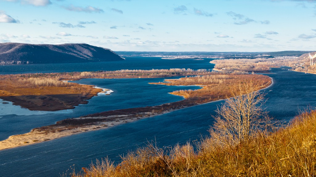 View of Volga River Bend
