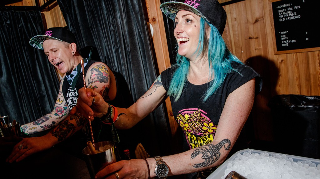 Trash Tiki's Iain Griffiths and Kelsey Ramage | © Josh Brasted