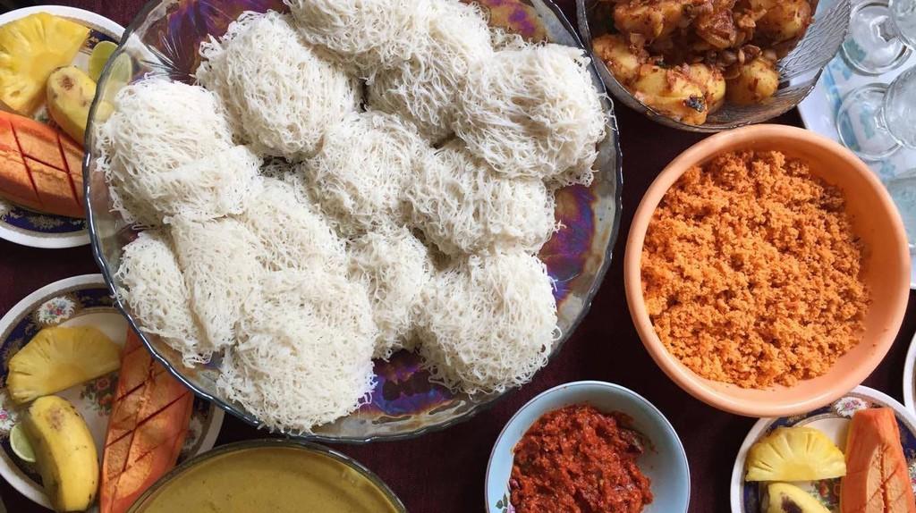 A full Sri Lankan Breakfast with hoppers | Orana Velarde