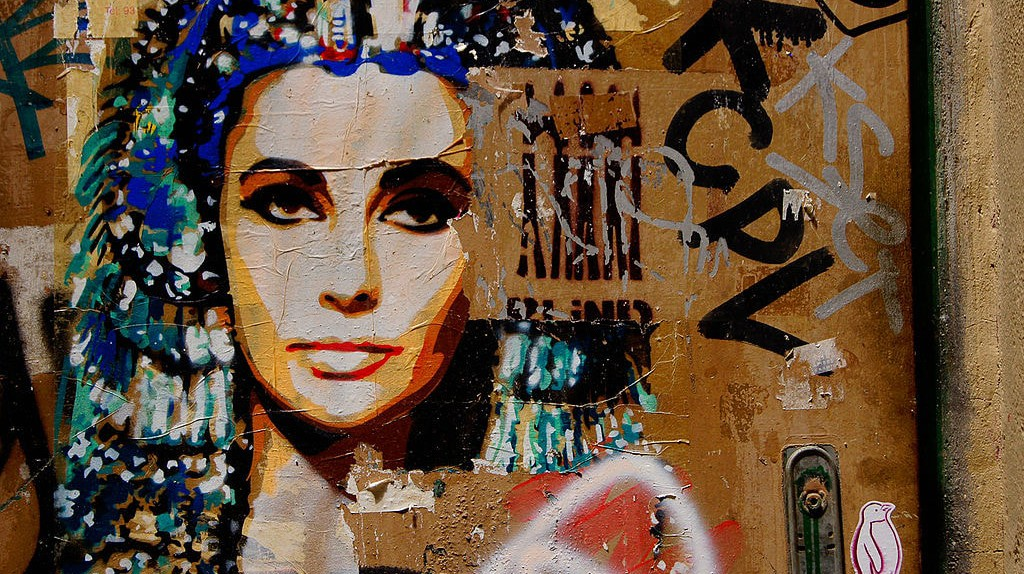 Barcelona graffiti showing a popular depiction of Cleopatra | © Wikimedia Commons