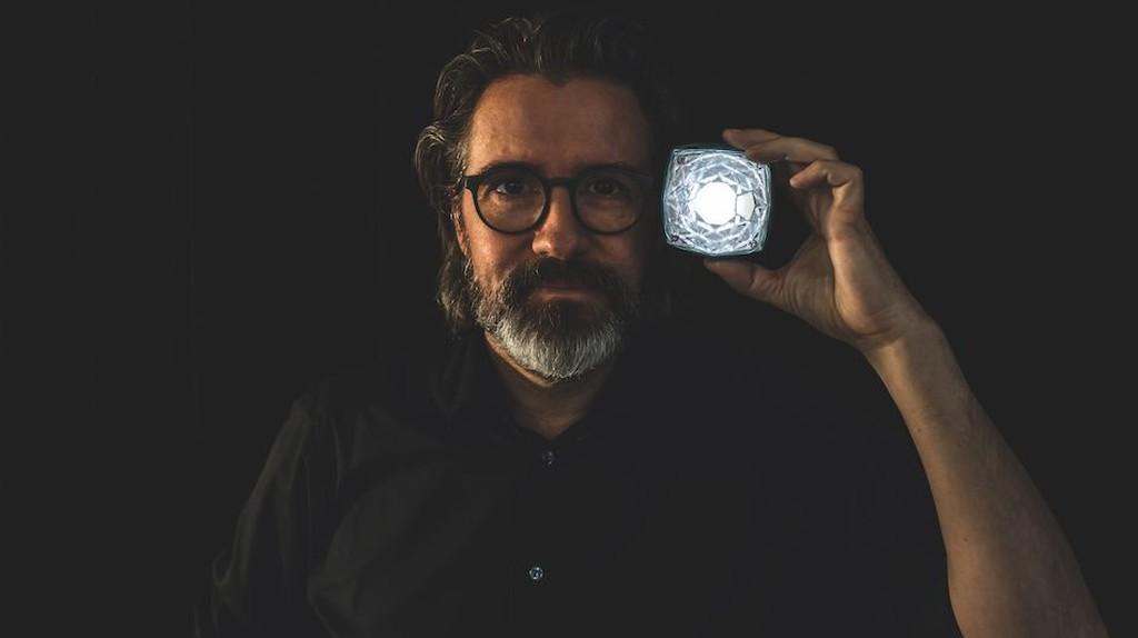"Olafur Eliasson with the ""Little Sun Diamond""   Courtesy of Studio Olafur Eliasson"