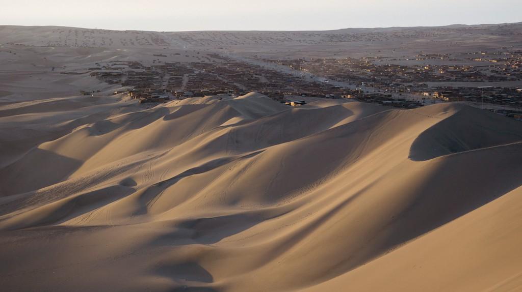 View of Huacachina's beautiful sand dunes