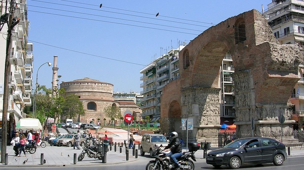 View of Arch and Rotonda of Galerius, Thessaloniki