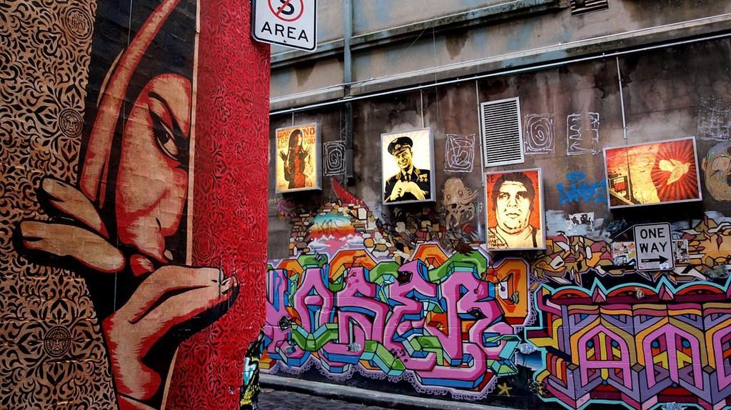 Shepard Fairey Hosier Melbourne    © TigTab / WikiCommons
