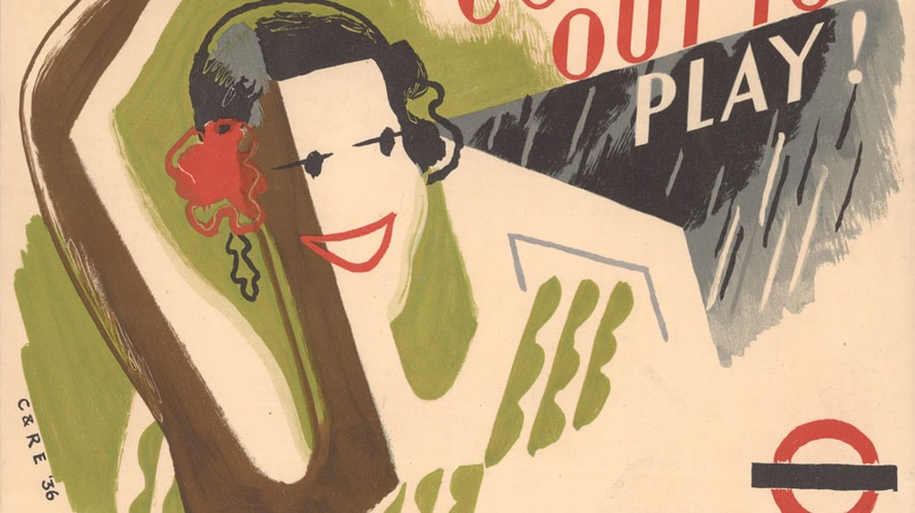 Come out to play, by Clifford Ellis and Rosemary Ellis, 1936   Courtesy of London Transport Museum
