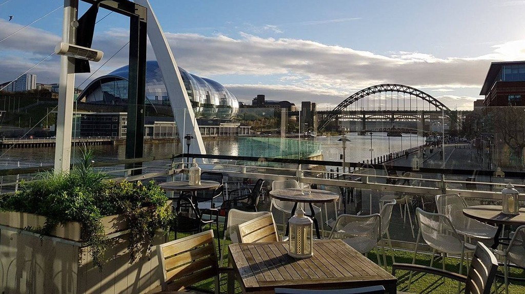 Outdoor terrace at Pitcher & Piano, Quayside   © Pitcher & Piano/Facebook
